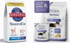 Сухой корм для кастрированных кошек