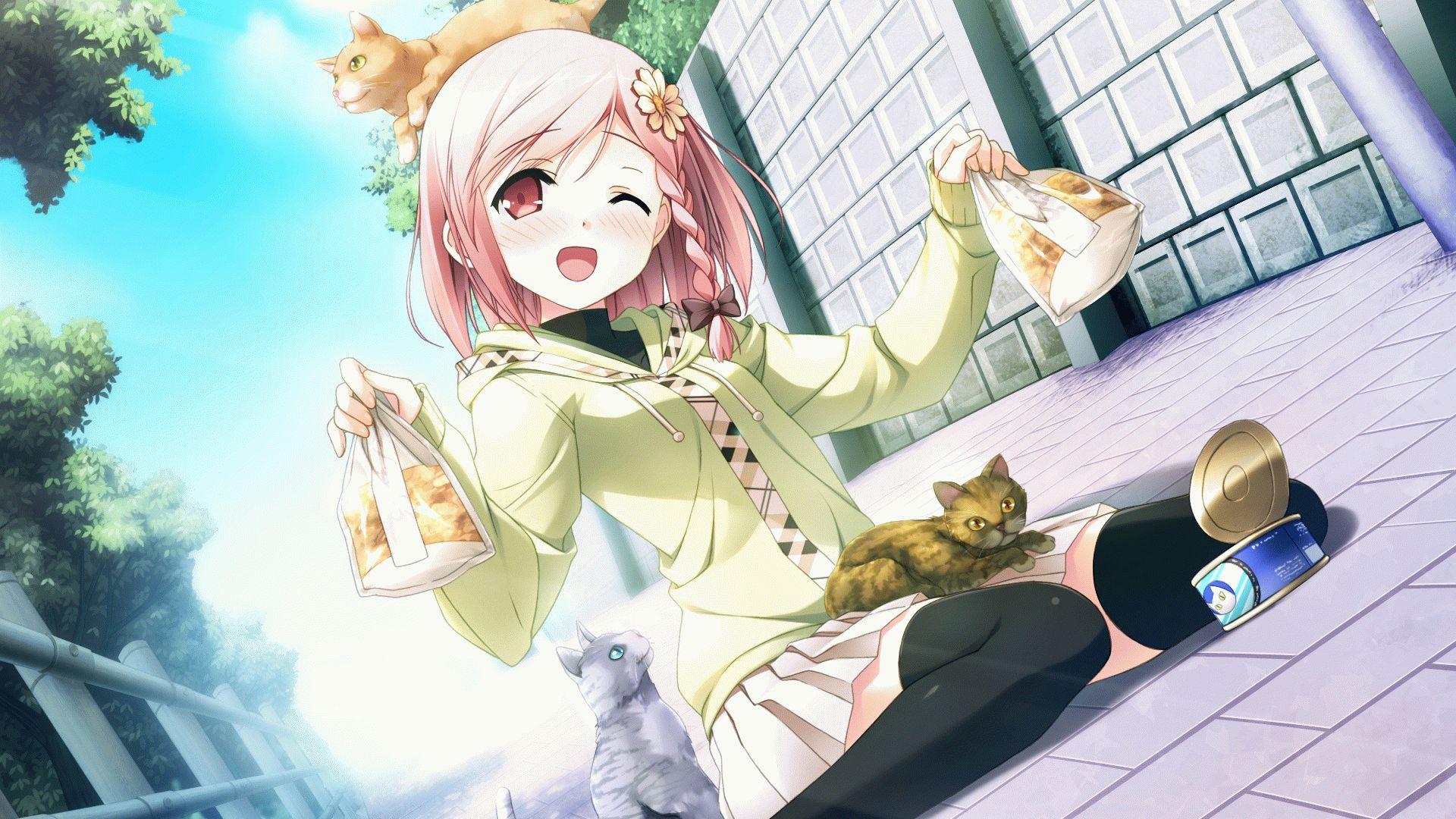 Картинки аниме кошек - 3d6