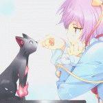 Черная кошка аниме картинки