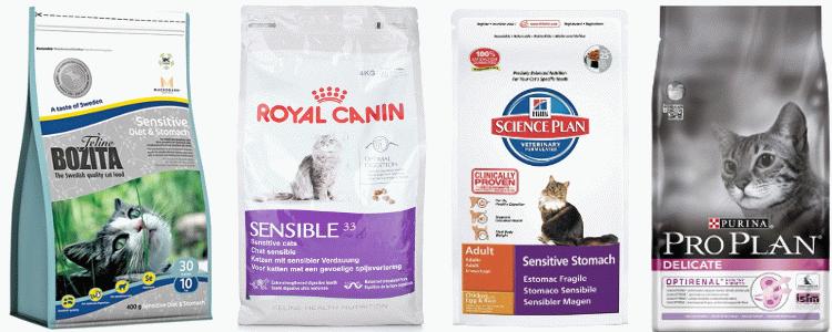 сухой корм для кошек с чувствительным пищеварением