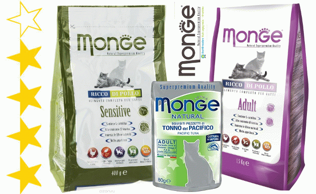 Корм Monge для кошек отзывы