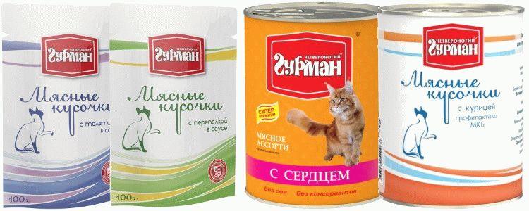 Четвероногий Гурман для кошек отзывы