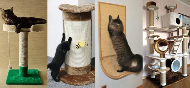 Как сделать когтеточку для кота своими руками: фото и видео инструкции, Сайт «Мурло»