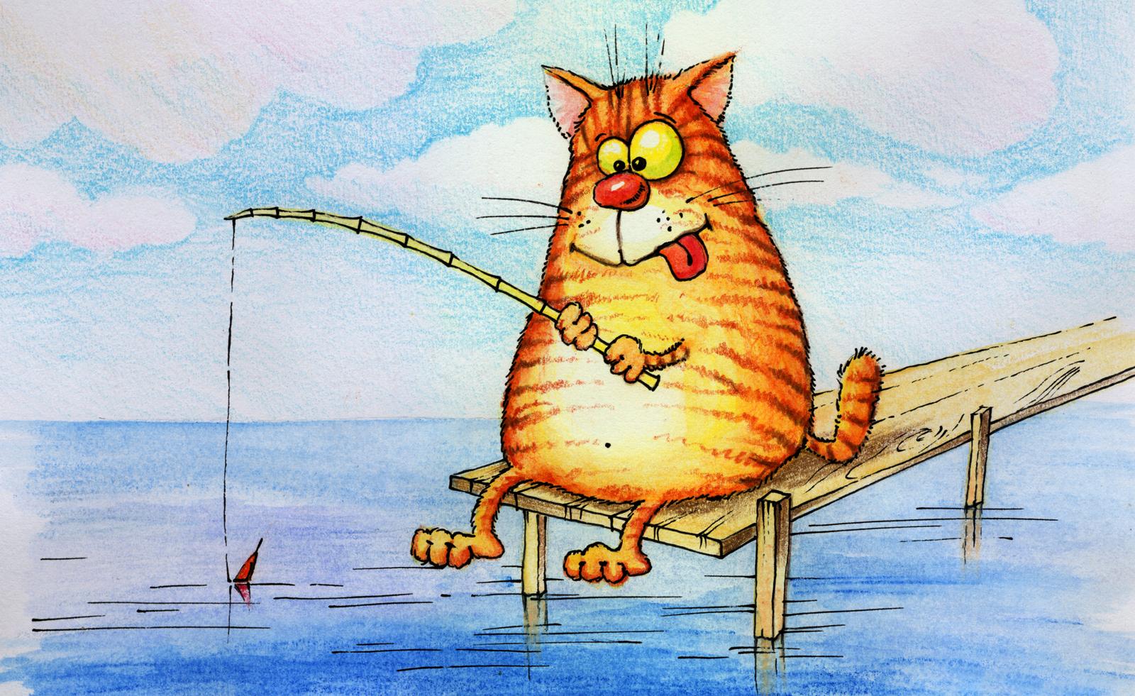 Рыбалка: может ли домашняя кошка самостоятельно поймать рыбу