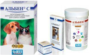 Альбен С для кошек - инструкция по применению