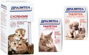 Празител для кошек - инструкция по применению