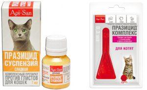 Празицид для кошек - инструкция по применению