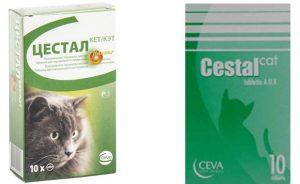 Цестал для кошек - инструкция по применению