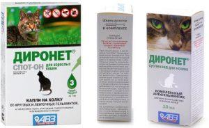 Диронет Спот-он для кошек - инструкция