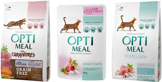 Корм для кішок Optimeal - відгуки