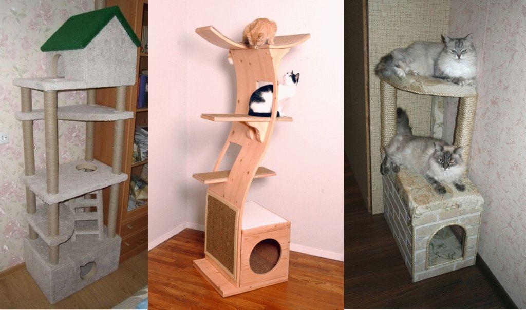 Многоуровневый кошачий домик своими руками 23