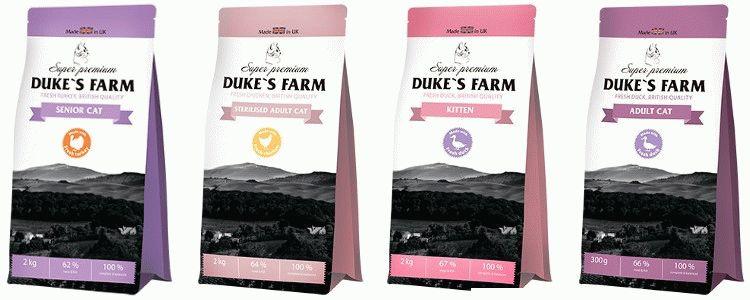 Корм для котів Dukes Farm відгуки