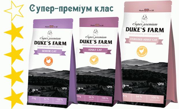 Корм для котів Dukes Farm