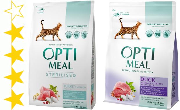 Огляд корму для котів Optimeal